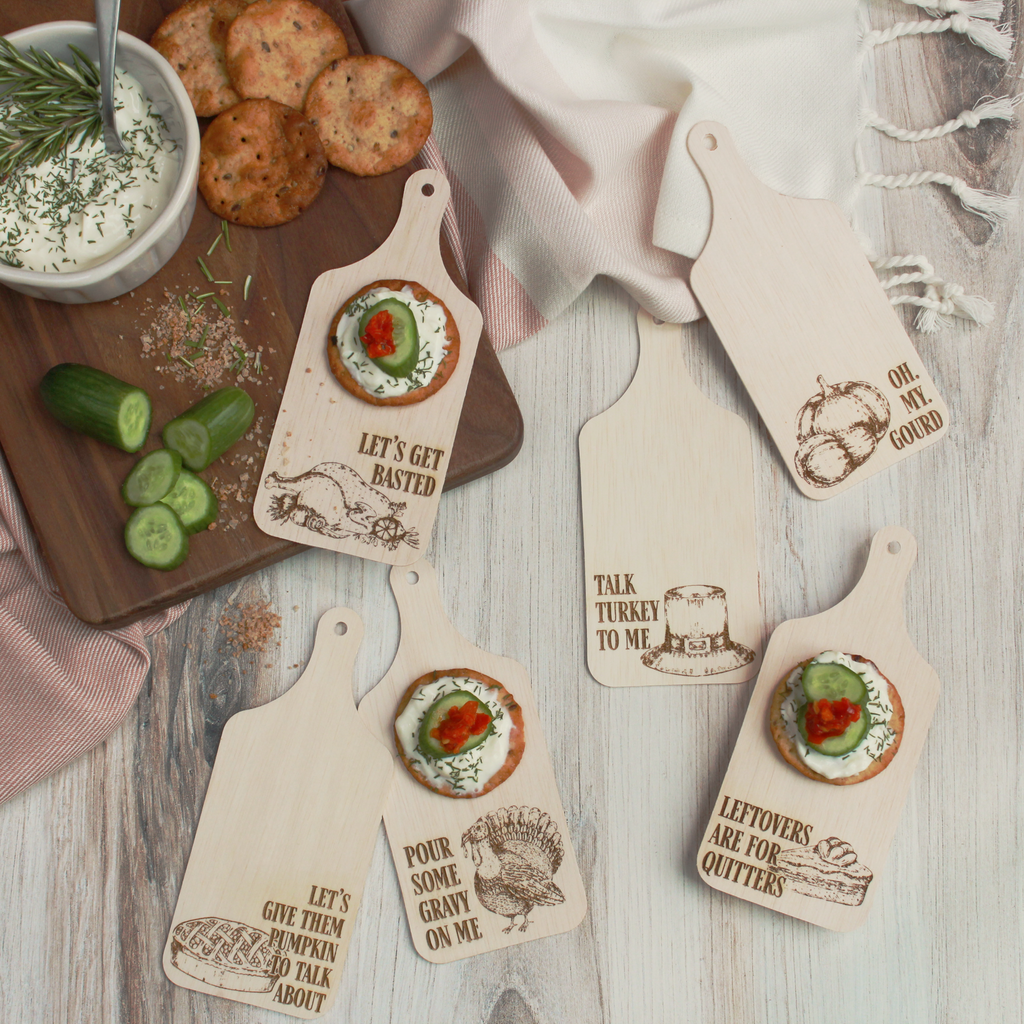 Pour Some Gravy on Me Mini Charcuterie Boards - Set of 10