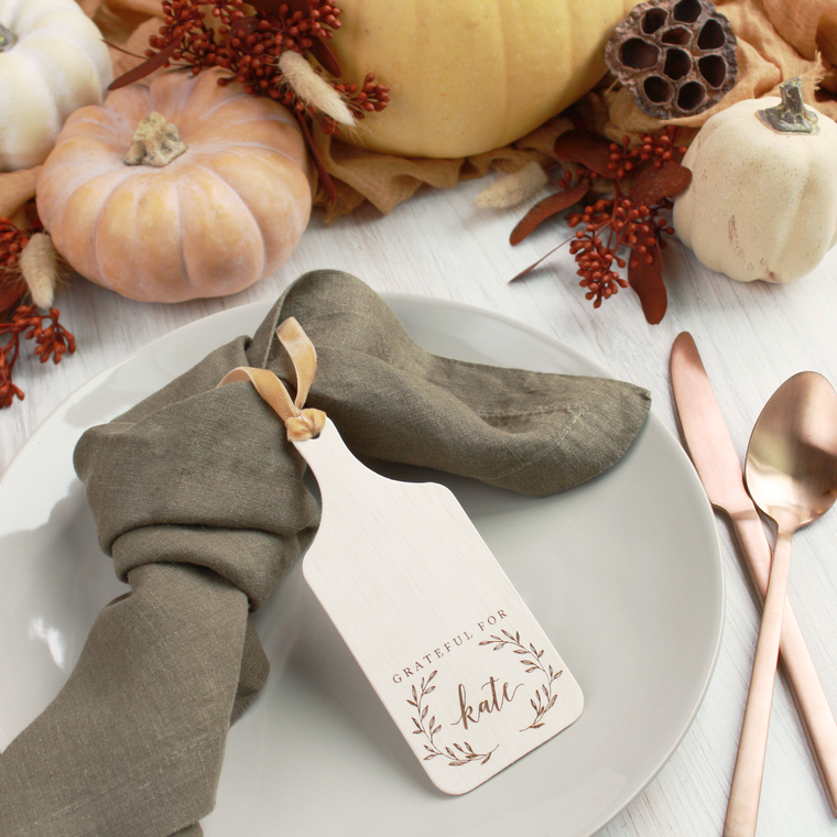 Autumn Laurel Personalized Mini Charcuterie Boards