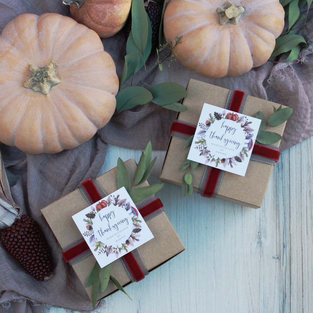 Fall Wreath - Printable Thanksgiving Tags