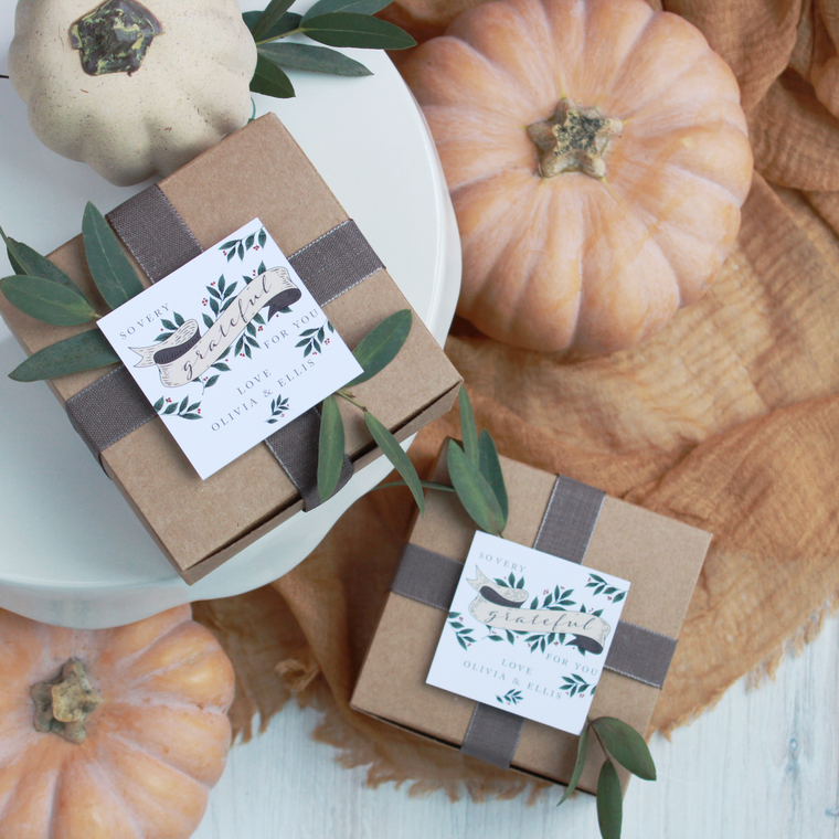 Harvest Banner - Printable Thanksgiving Tags