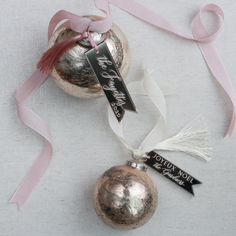 Antiqued Mercury Glass Ornaments