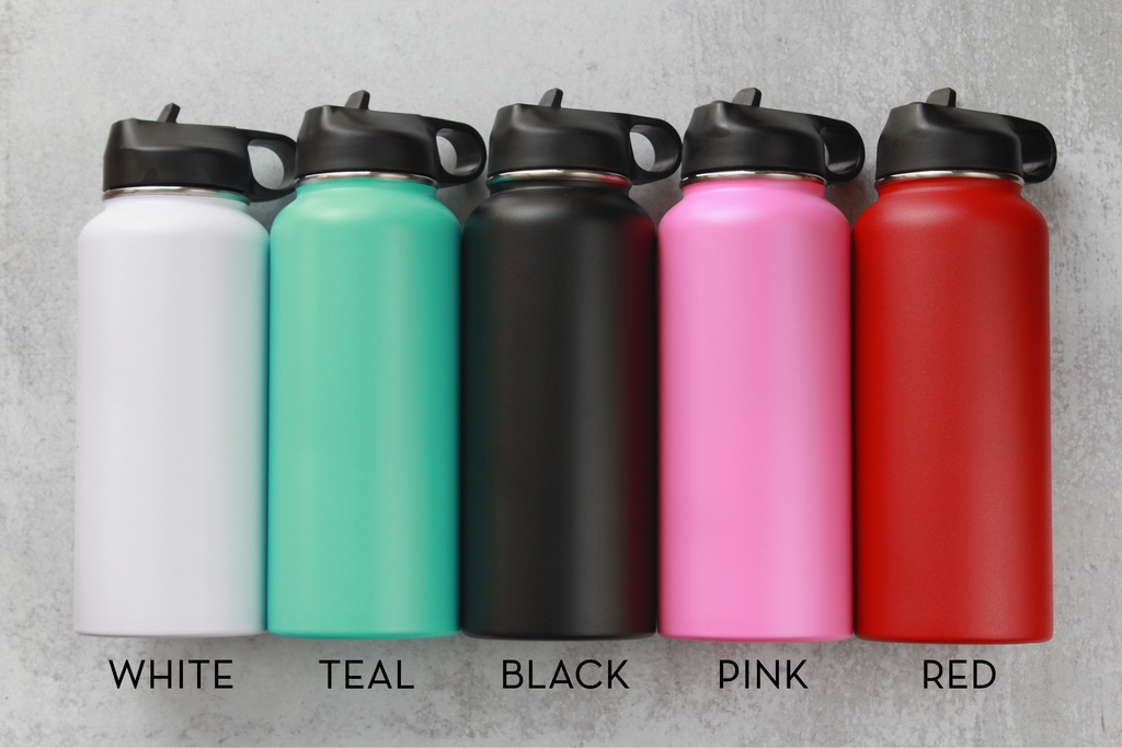 Personalized Water Bottle - 32oz with Dual Lids