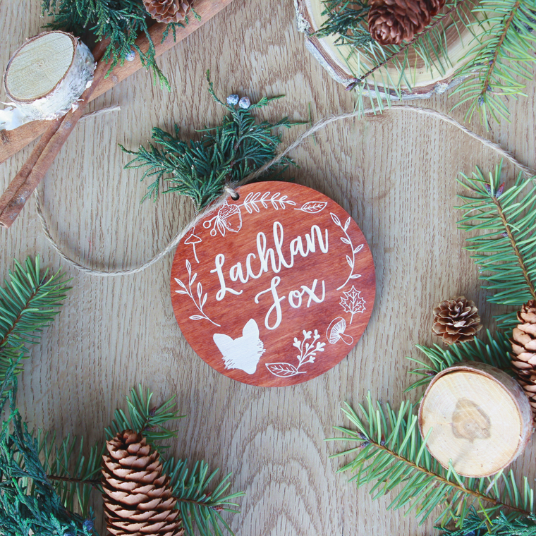 WINTER WOODLAND STOCKING TAGS/ORNAMENTS