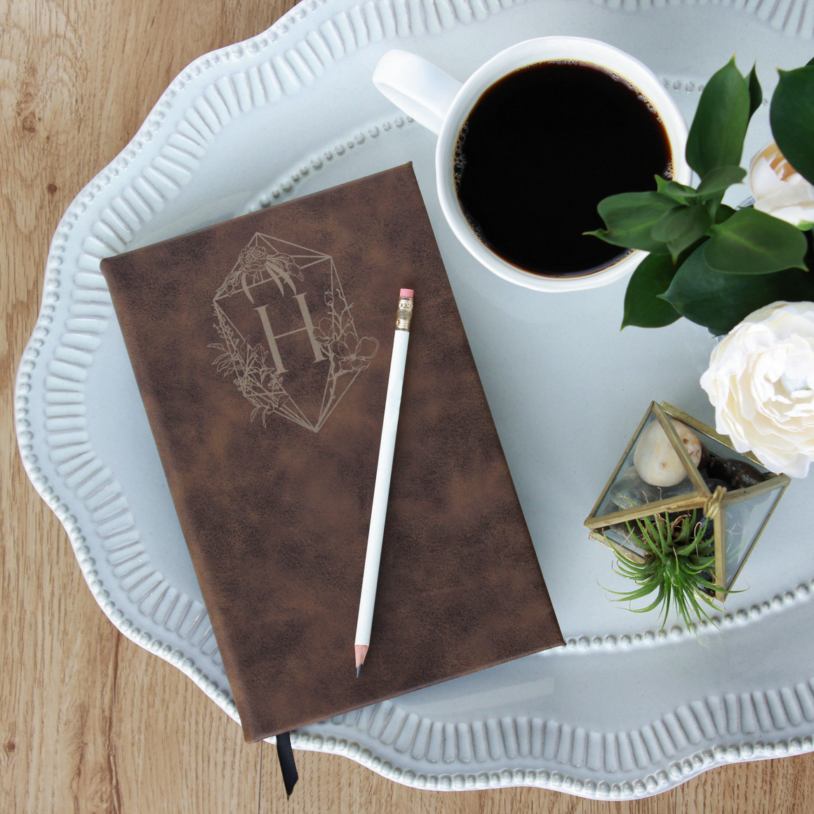 Personalized Vegan Leather Journal