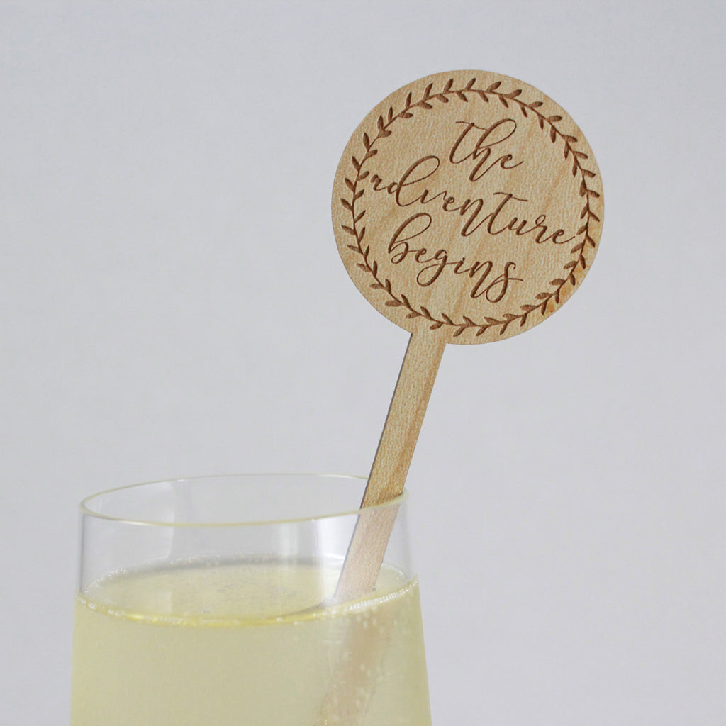 Wreath Drink Stirrers - Set of 6