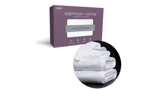 Sleep Plush + (PLUS) Cotton - T500 Sheet Set - White