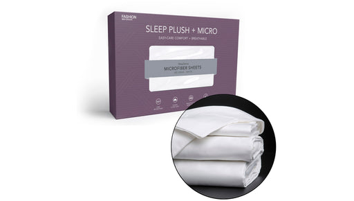Sleep Plush + White 4-Piece Microfiber 500g Bed Sheet Set with Wrinkle Free Performance Fabric