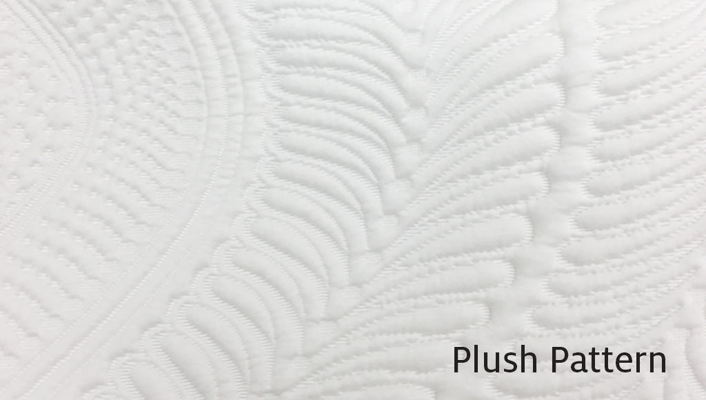 Plush top of the line design with raised pattern and finer thread count
