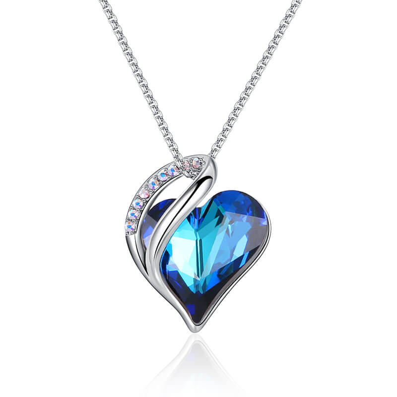 Birthcrystal Heart Necklaces