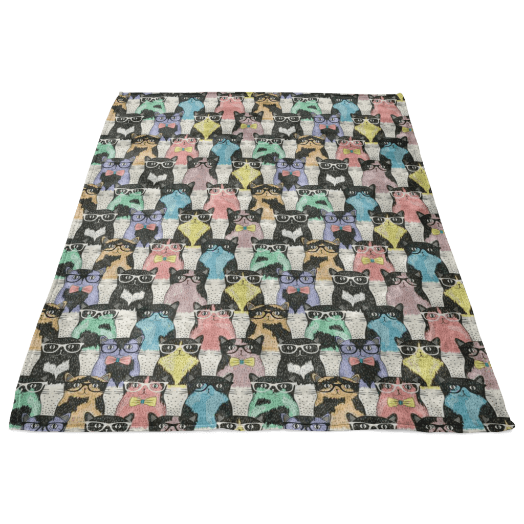 Smart Cats Fleece Blanket - 24 Style
