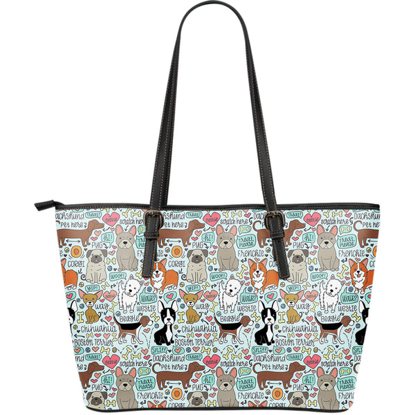 Lots of Pooches Leather Tote - 24 Style