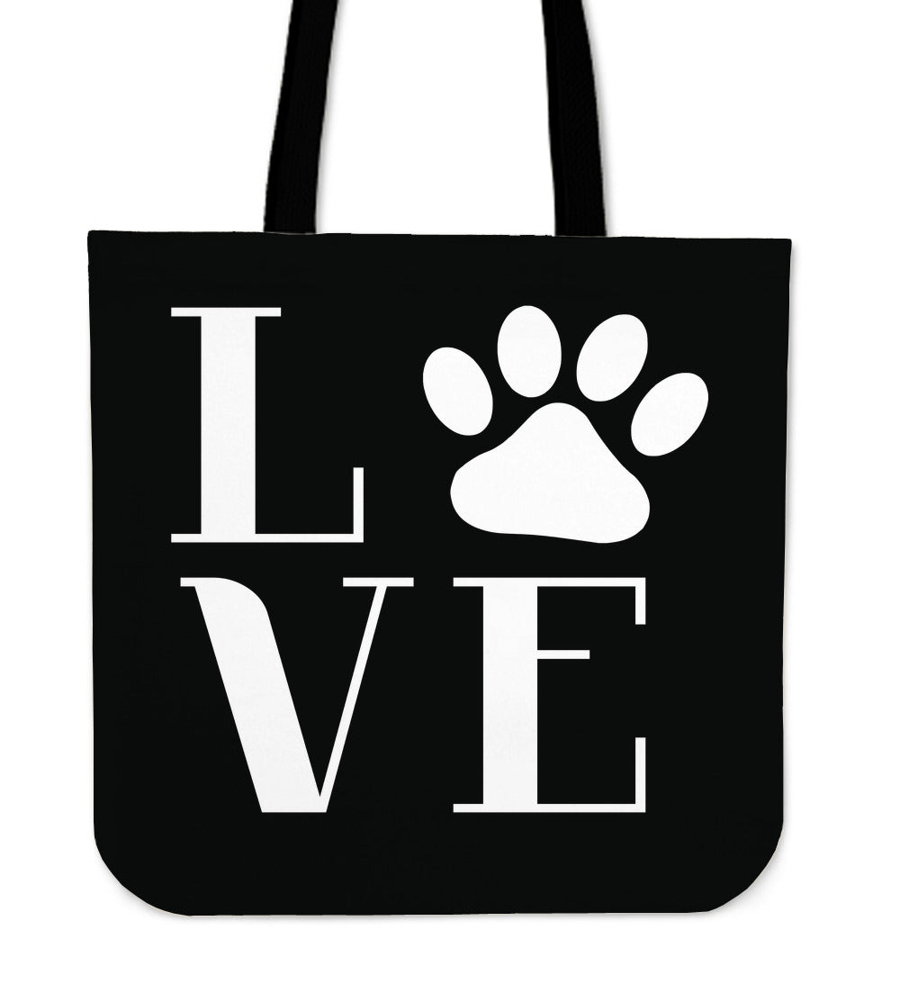 Love Dogs Linen Tote Bag