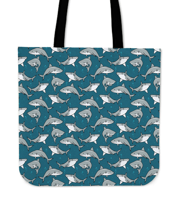 Sharks Linen Tote Bag - 24 Style