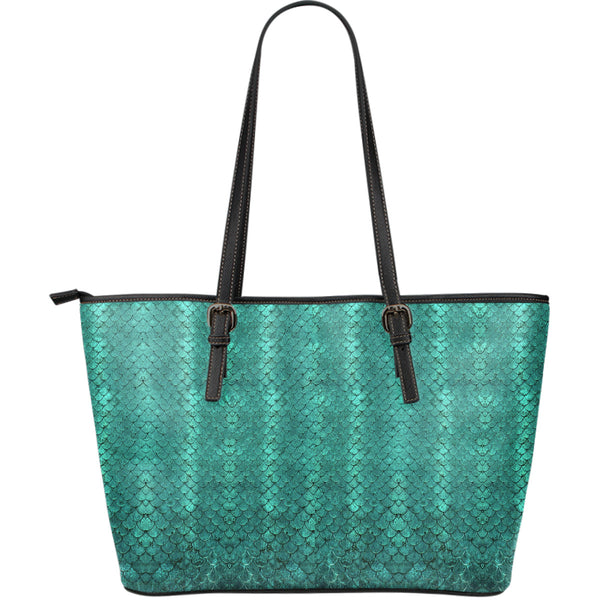 Mermaid Leather Tote Bag