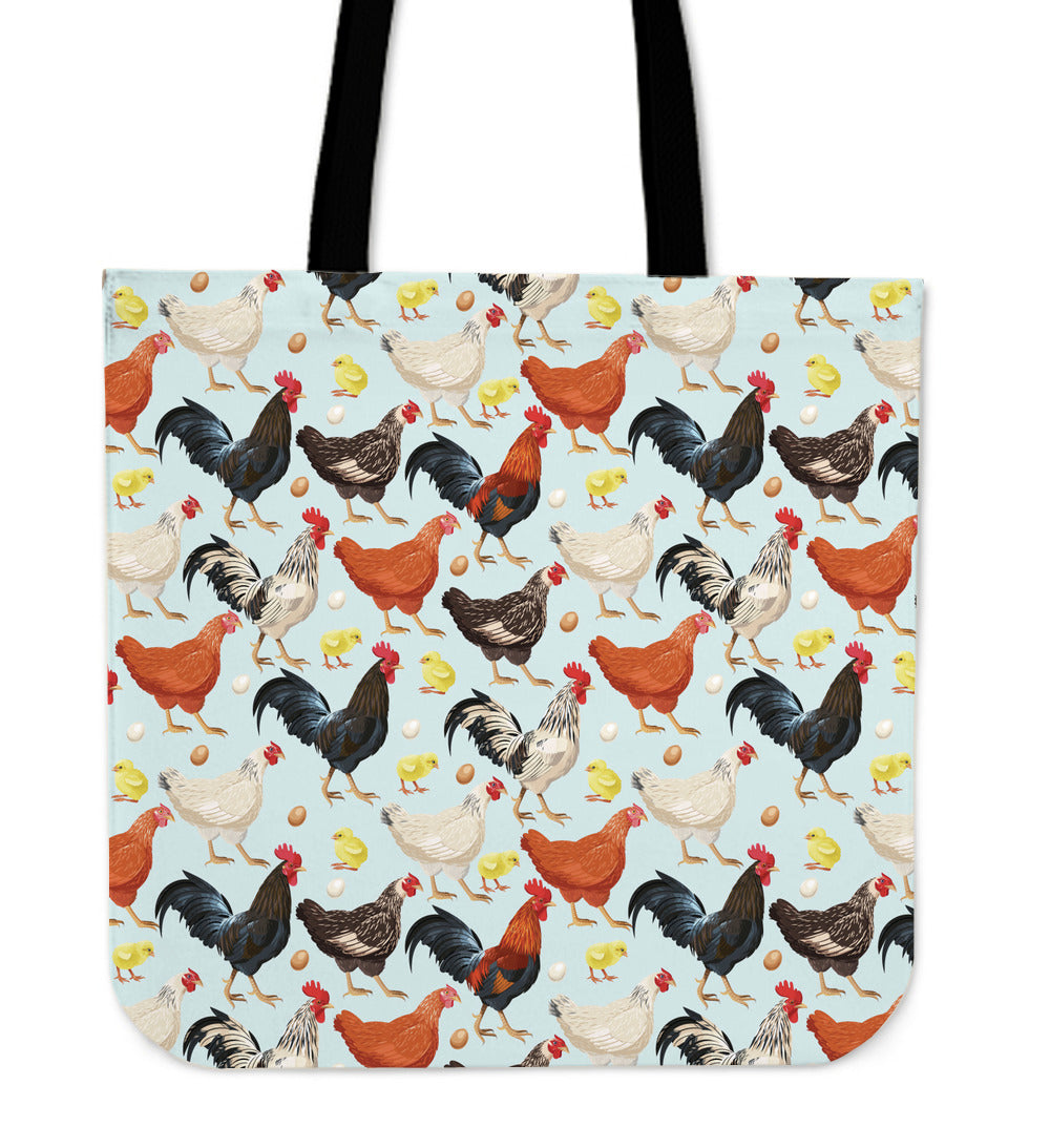 Chicken Linen Tote Bag - 24 Style