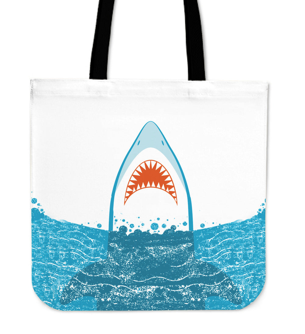 Shark Breach Linen Tote Bag - 24 Style