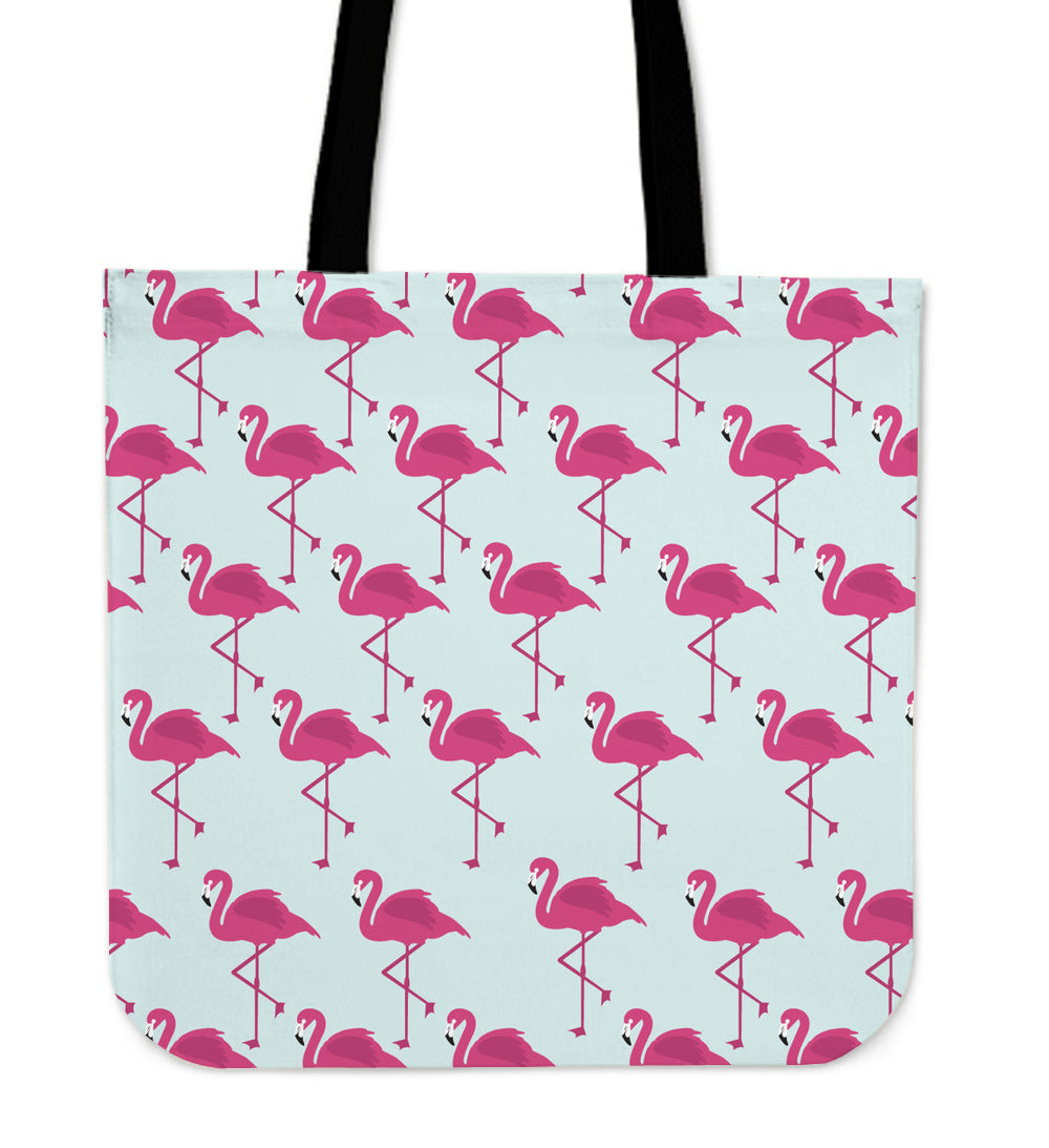 Flamingos Linen Tote Bag