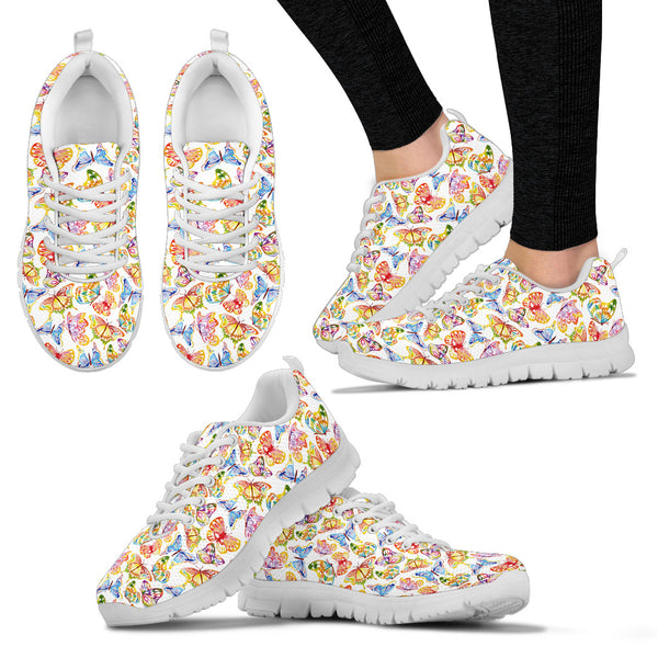 Butterfly Watercolor Sneakers