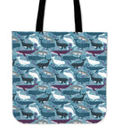 Lots of Whales Linen Tote Bag - 24 Style