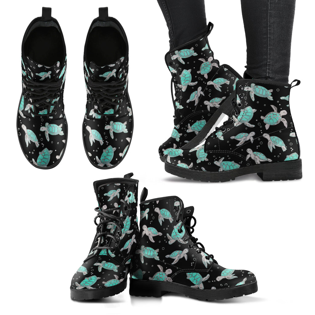 Sea Turtle Leather Boots