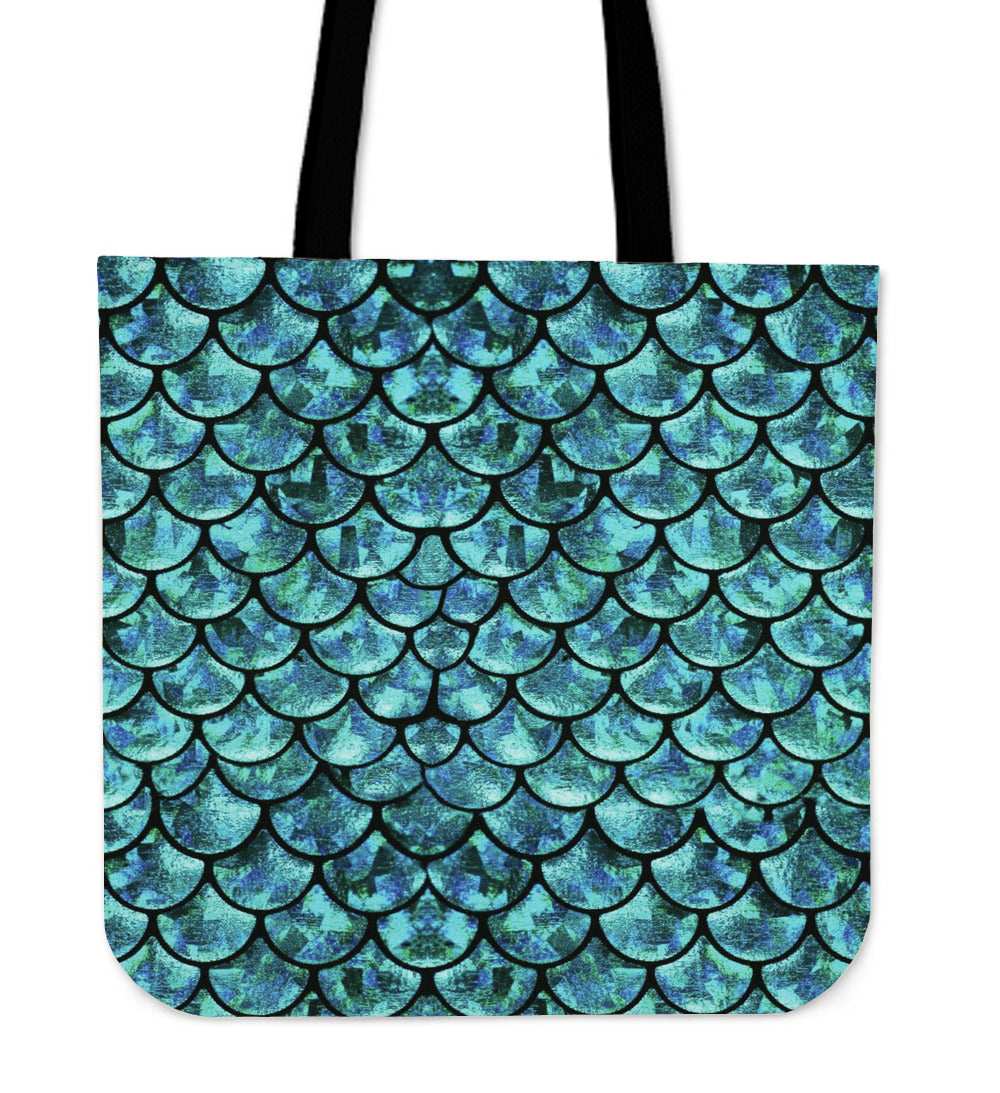 Mermaid Linen Tote Bag