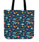 Under the Sea Linen Tote Bag - 24 Style