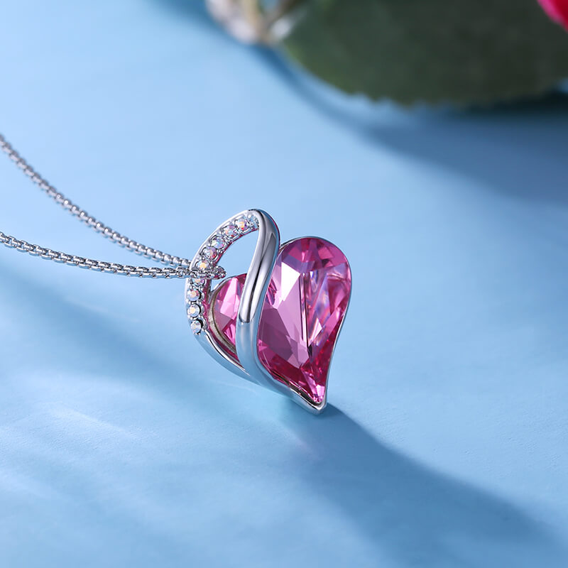 October Crystal Birthstone Necklace