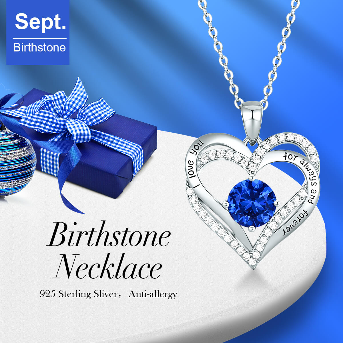 September Birthstone Necklace
