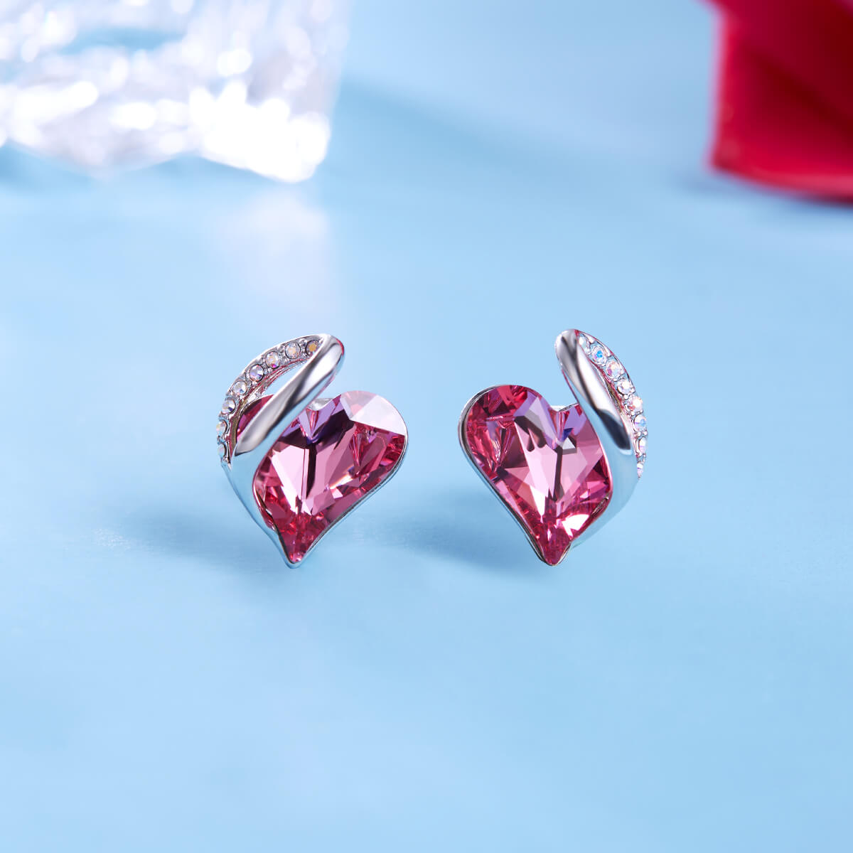 October Crystal Birthstone Earrings
