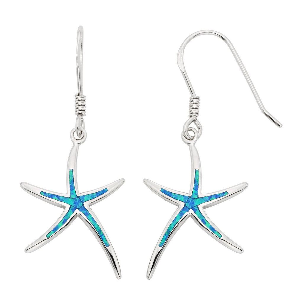 Starfish Blue Opal Earrings - 24 Style