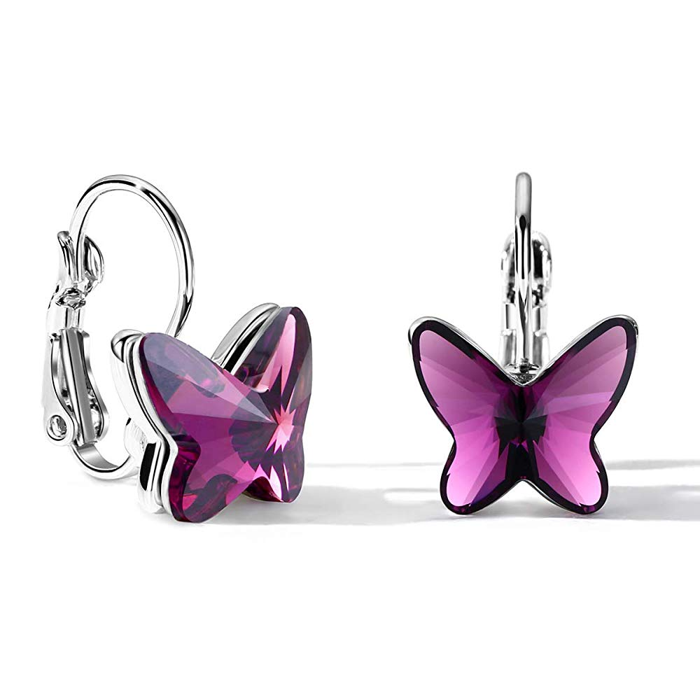 Purple Butterfly Earrings - 24 Style