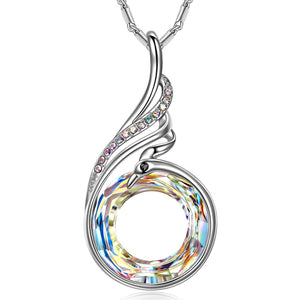Aurora Borealis Phoenix Necklace