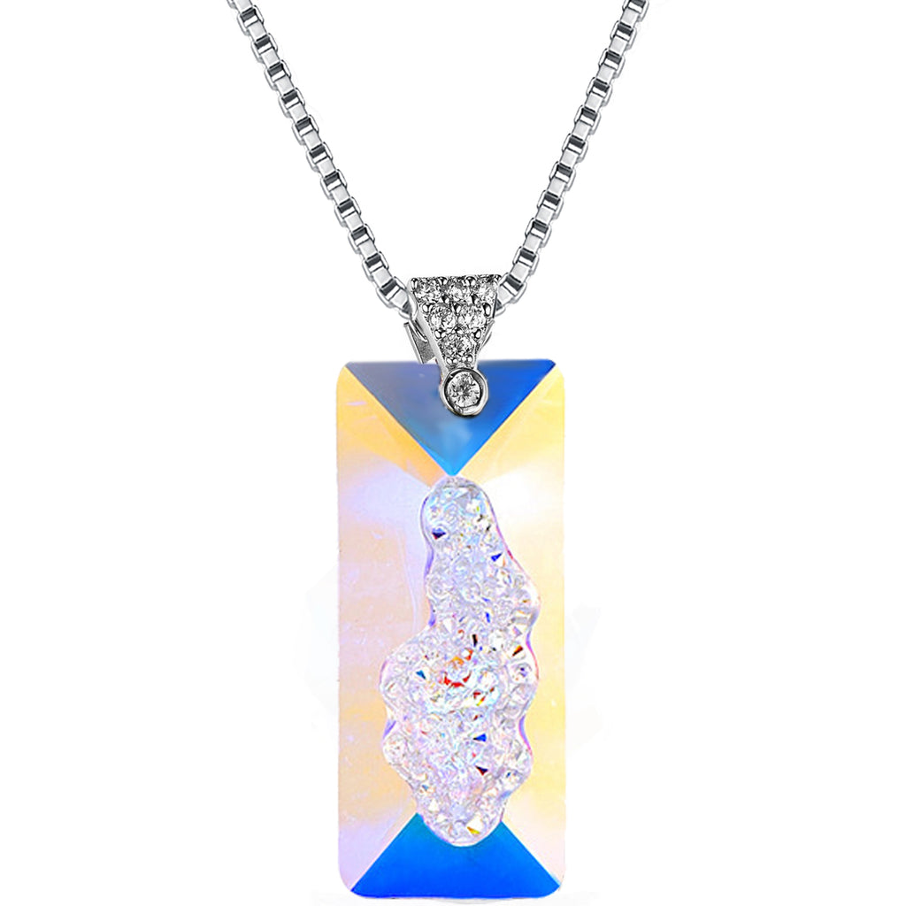 Aurora Borealis Crystalline Necklace