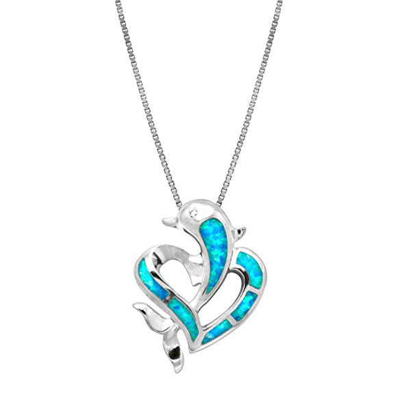 Dolphin Blue Opal Necklace