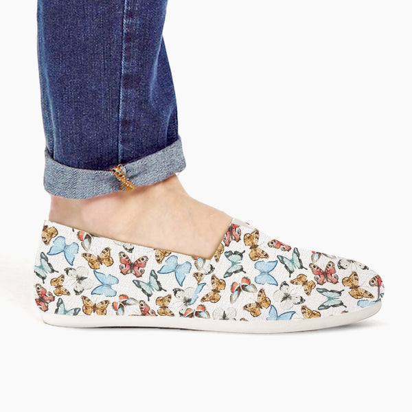 Butterfly Watercolors Slip-Ons