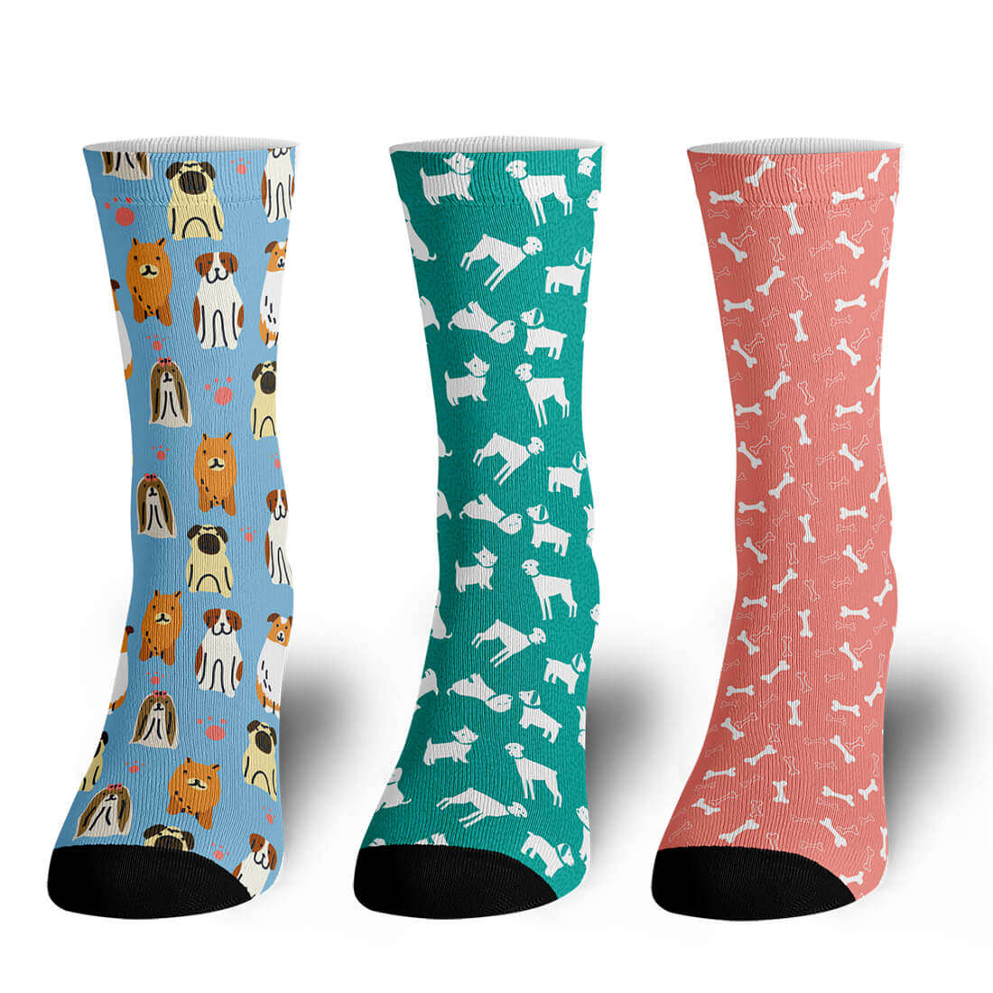 Pooches 3-Sock Pack