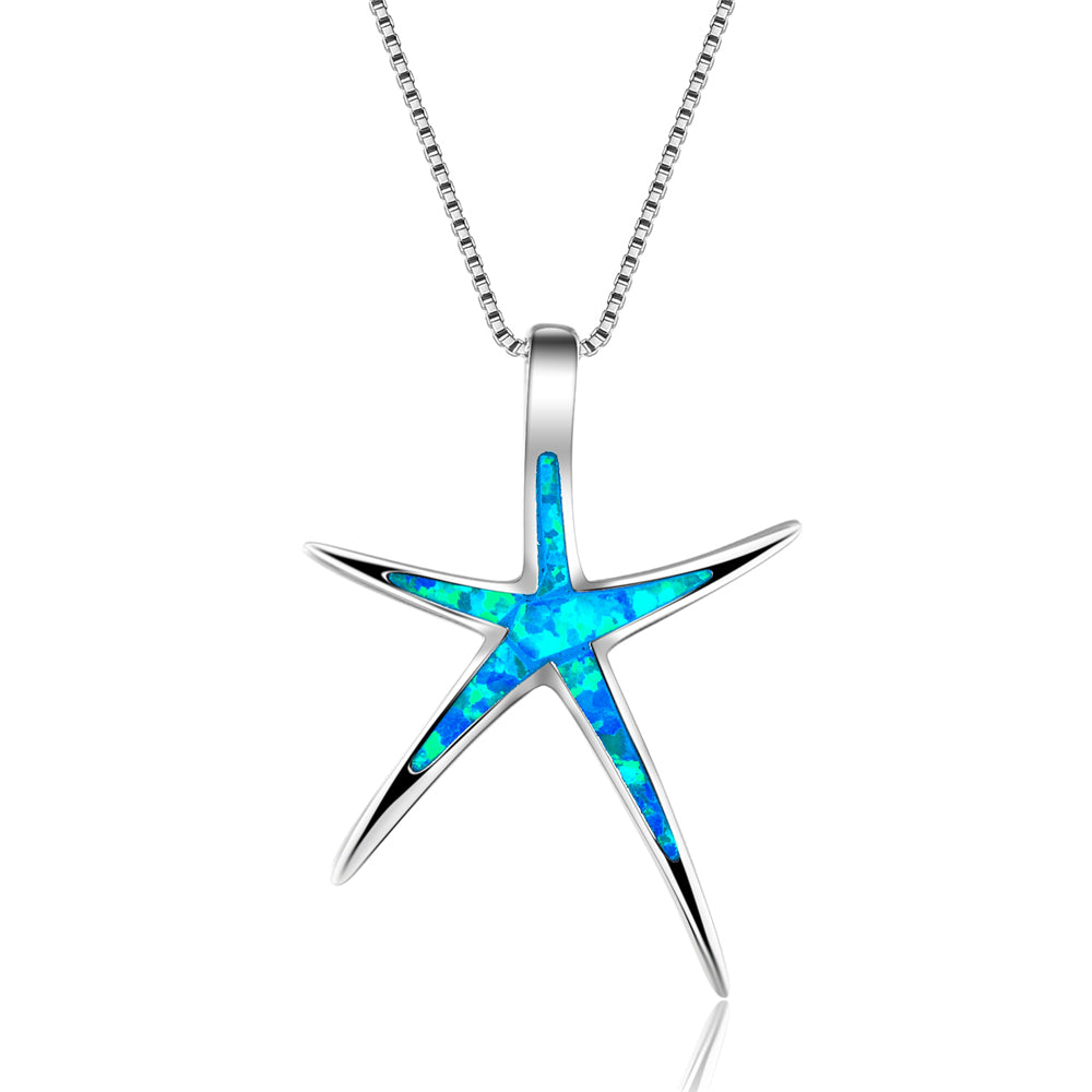 Starfish Blue Opal Necklace