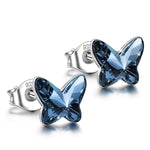 Crystal Butterfly Stud Earrings