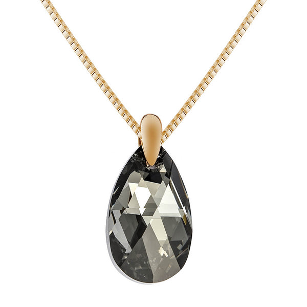 Black Aurora Crystal Necklace - 24 Style