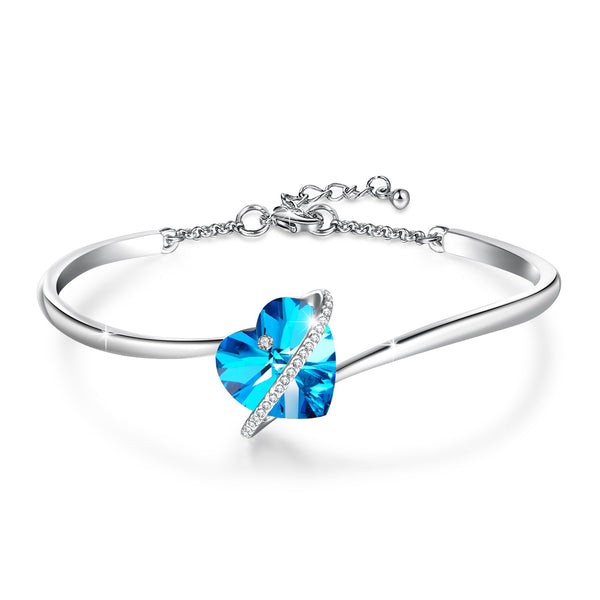 Blue Infinity Love Bangle - 24 Style