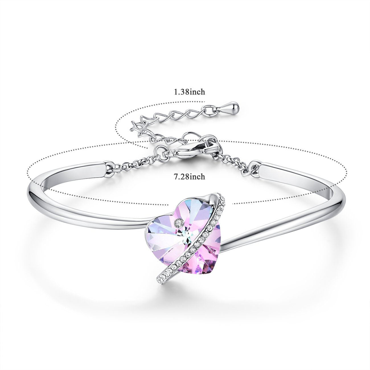 Purple Infinity Love Bangle - 24 Style