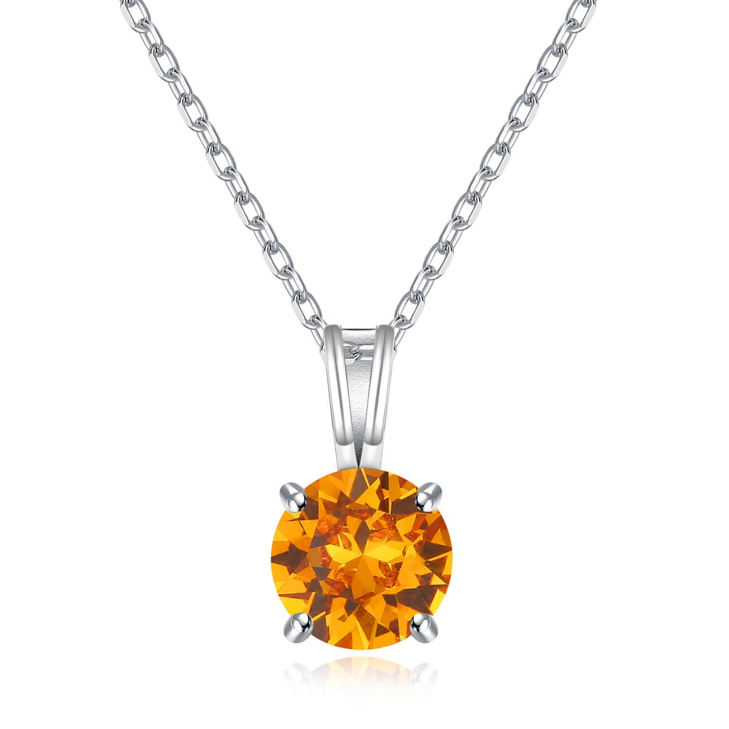 Birthcrystal Solitaire Necklaces