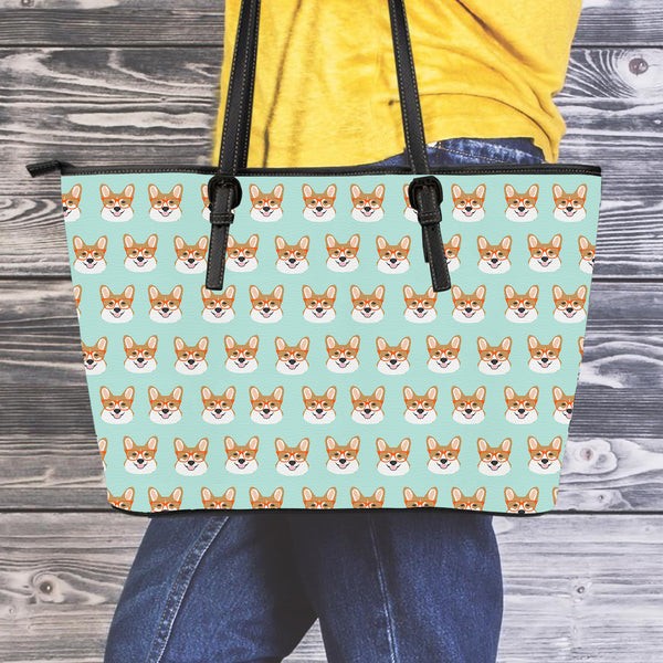 Smart Corgis Leather Tote Bag - 24 Style