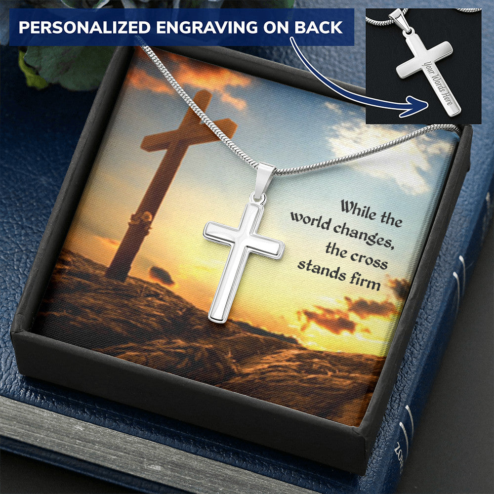 The Cross Stand Firms Personalized Cross Necklace