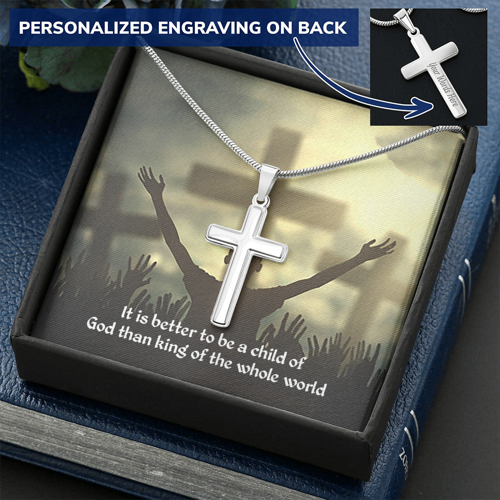 Child of God Personalized Cross Necklace