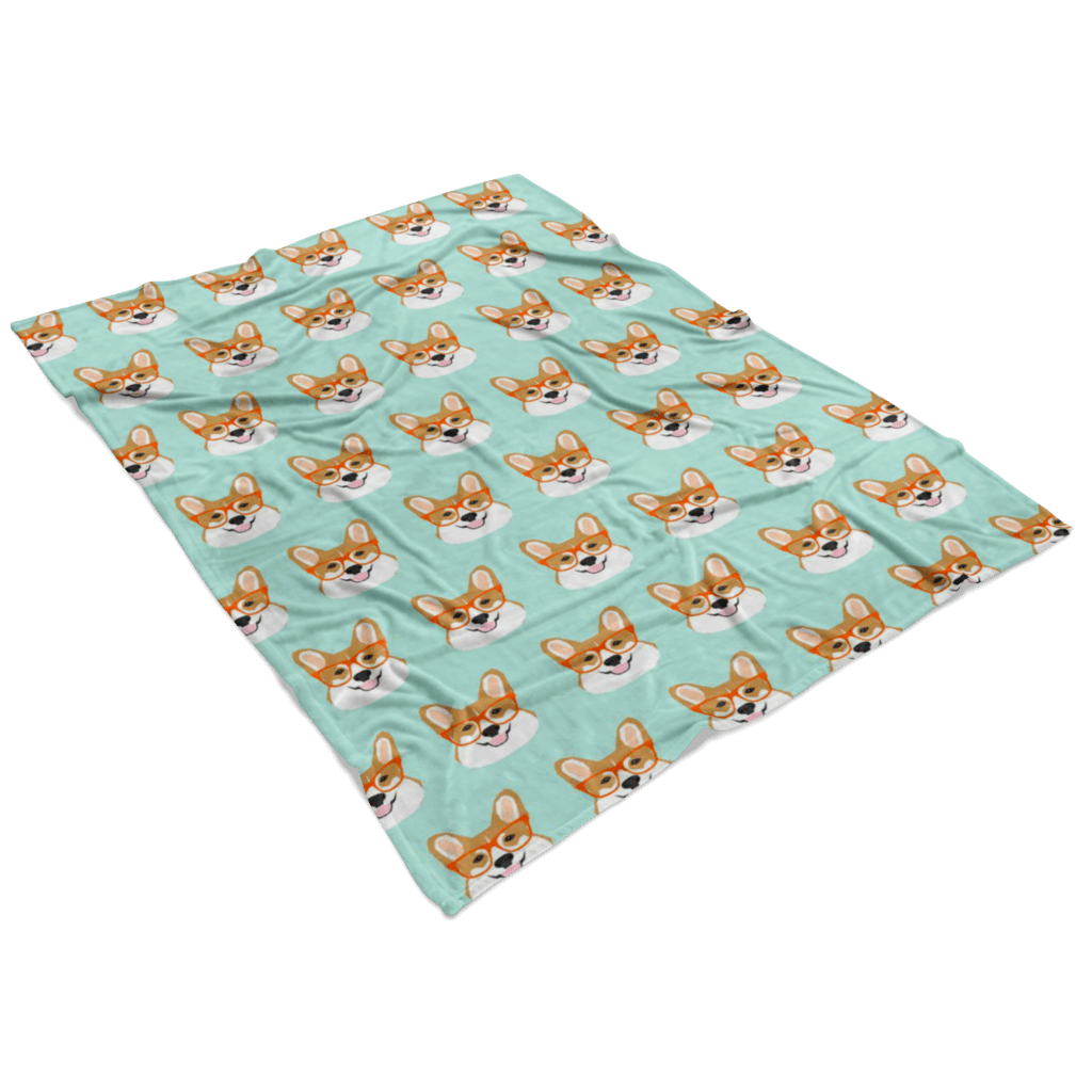Corgi Fleece Blanket
