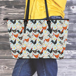 Chicken Leather Tote Bag