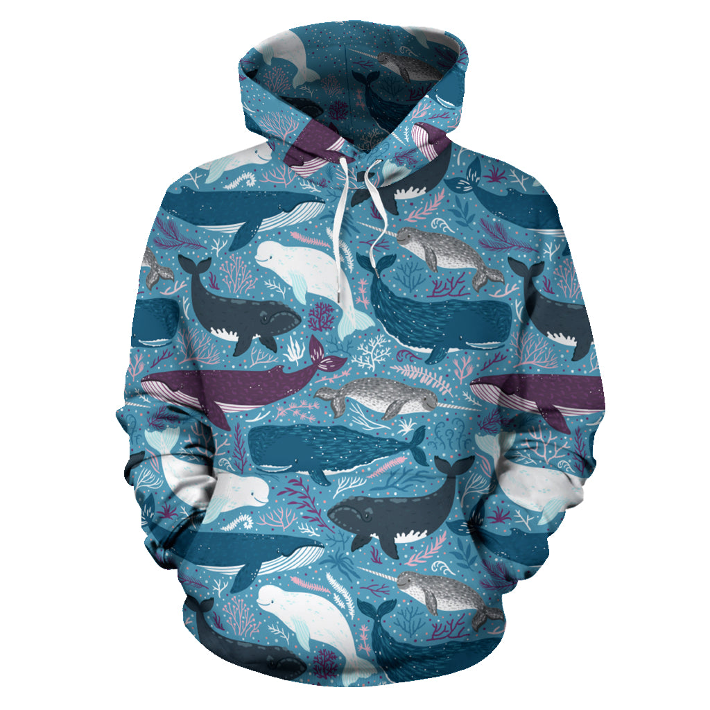 Whale Pullover Hoodie - 24 Style