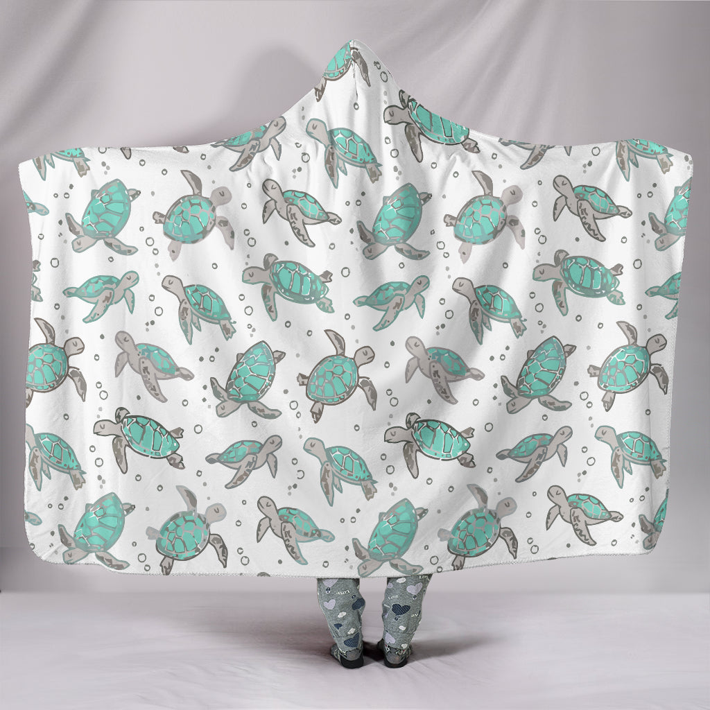 Sea Turtles Hooded Blanket