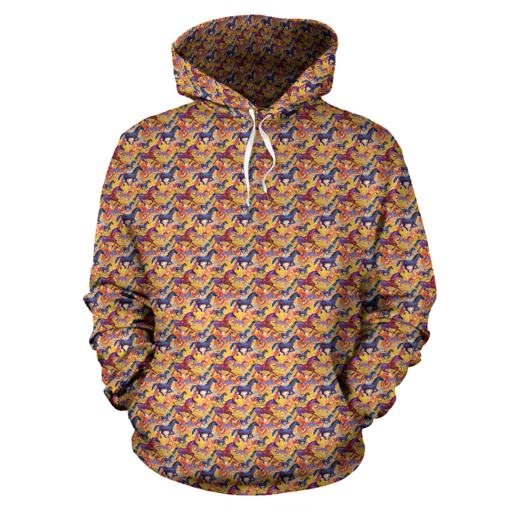 Galloping Horses Pullover Hoodie